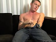 Military Boy Jerks His Ho...