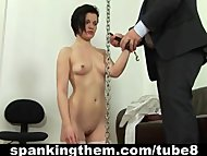 Boss punishes his lazy sexy secretary