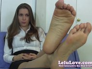 Lelu Love-Embarrassed Secretary Foot Fetish