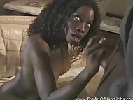 Ebony Student Handjob