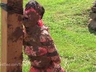 Elise Graves gets Muddy in Outdoor Bondage