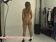 Real czech amateur blonde in b