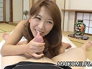 Ayumi Chiba - Japanese Wife Feasting On Stranger's Cock