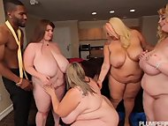 4 Hot BBWS Take on 1 Blac...