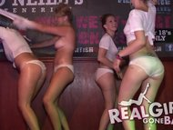 real hot students strip naked in a htclub for a wet t shirt contest