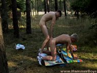 Hot gay summer adventure in the forest from Hammerboys TV