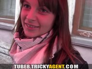 Tricky Agent - A girl rescued from the rain gets seduced!