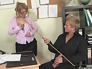 Office bitch enjoys riding his