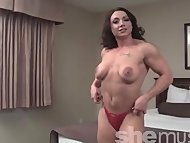 Brandimae - Sexy Muscle Girl Strips and Flexes