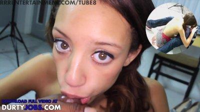 18 yr old mixed teen nikki dream gives me amazing pov hidden cam blowjob