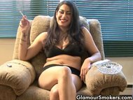 Babe smokes while being interviewed