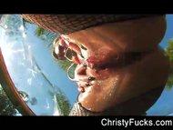 Christy Mack Pleasures Herself