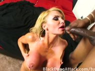 Blond milf getting fucked hard by a BBC