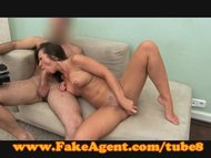 FakeAgent Mature amateur gets spunk all over her pussy