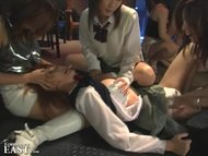 Intense Japanese FemDom Group Catfight