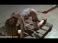 Latex Femdom Torments Tattoo Fetish Gal With Hot Wax, Flogging and Orgasms