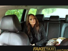 Blowjob Spycam Reality video: FakeTaxi Hungarian brunette takes on big thick cock