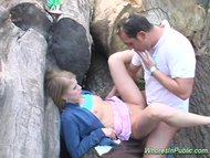 Nasty whore in public get...