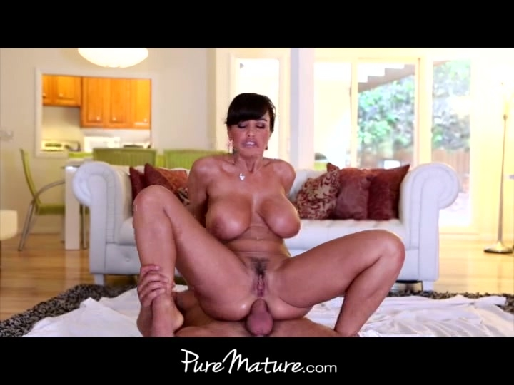 PureMature Huge-tittied MILF exercises on a guys pole