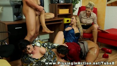 Hottest lesbians pissing on each other