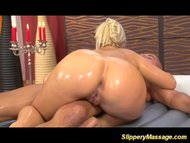 Blonde beauty slippery ma...