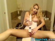 Cute Blonde Teen Rubs her Clit