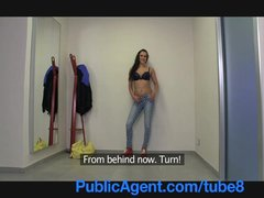 Camcorder Cumshot Homemade video: PublicAgent Super model wanna be is duped by photographer
