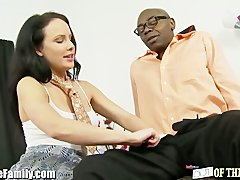 Interracial Brunette movie: EXCLUSIVE: Teen Fucks Black Step-Daddy