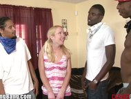 Petite Nicki Blue in Interracial Anal GangBang