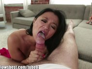 Stepmom Lucky Starr is sucking