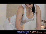 Massage Rooms Teen with massive heavy breasts gets a good hard pounding