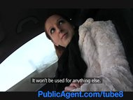 PublicAgent Ginger girl gets into stranger car and fucks for cash