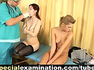 2 sweet girls get gyno examination