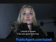 PublicAgent Sexy blonde fucks me in a public place