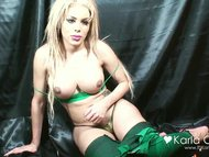 Karla Carrillo in a green...