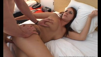 Alisha Adams gets her pussy filled up with cum by two guys