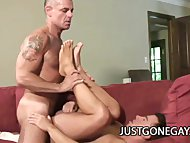 Dominik Rider and John Markus: Daddy On Daddy Delicious Gay Sex