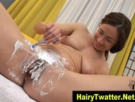Watch hot brunette hoes hairy pussy fetish shaving solo in hi def