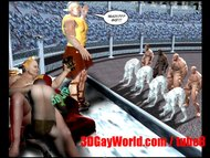 Gay Olympic Games Funny 3D Gay Cartoon Anime Comics Ancient XXX Joke 3DGay