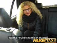 FakeTaxi Czech beauty sucks an