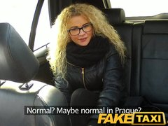 Squirting Czech video: FakeTaxi Czech beauty sucks and takes big cock