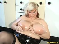 blonde MILF with extreme big n
