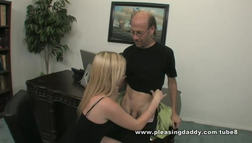 Blond Slut Holly Fucks Her Mature Boss In His Office To Keep Her Job