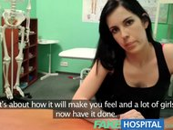 Fake Hospital Squirting MILF wants breast implants and gets a creampie
