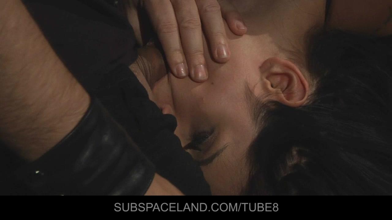 Bondage slave restrained for sexual bdsm game