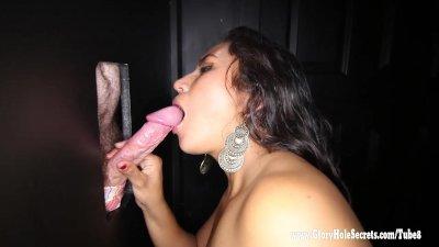 Gloryhole Secrets Alejandra deep throat 4