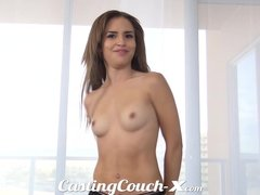 Casting Couch X Exotic Cali girl nervous to do porn