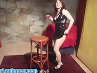 Shy czech chick lapdances in s