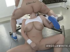 Ass Australian Bigass video: Busty Angela White and Big Booty Kelly Divine Anal Fucking
