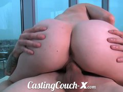 Casting Couchxcom Creampie video: Casting Couch-X High school sweethearts start in porn